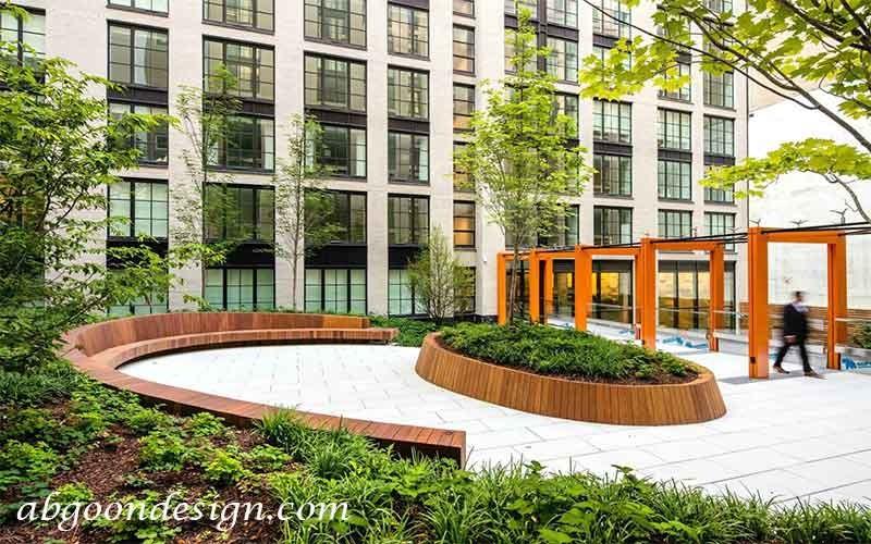 محوطه سازی در ساختمان های مسکونی