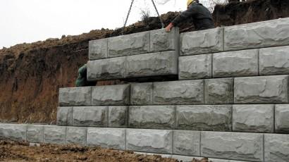 دیوارهای وزنی بنایی و بتنی